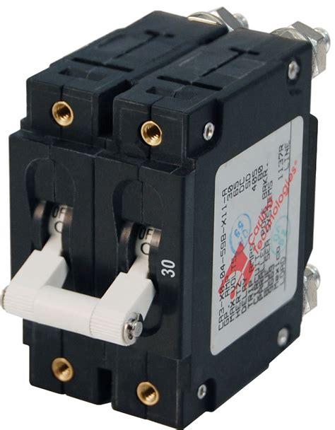 Switch Breaker C Series White Toggle Circuit Breaker Pole 30 Blue Sea Systems