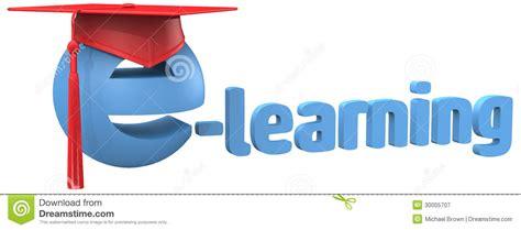 online tutorial videos e learning education school grad cap word stock