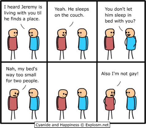 Gay Roommate Meme - image 34170 cyanide and happiness know your meme