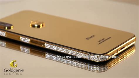 24k gold iphone xs swarovski goldgenie