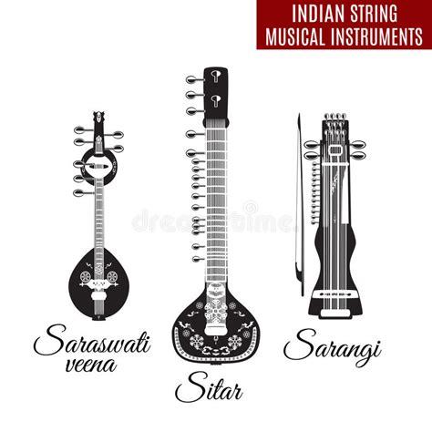 imagenes de guitarras a blanco y negro sistema de instrumentos musicales de la secuencia india