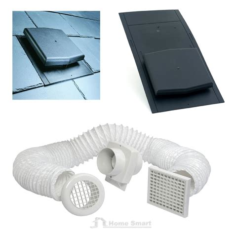 Bathroom Extractor Fan Loft Kit Slate Roof Tile Vent Inline Timer Extractor Shower Fan