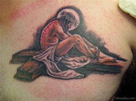 cross with jesus tattoos religious tattoos designs pictures page 14