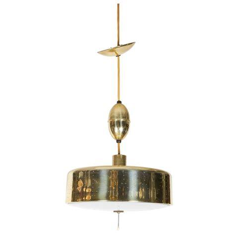 Adjustable Drum Pendant Light In Perforated Brass For Sale Adjustable Pendant Lights
