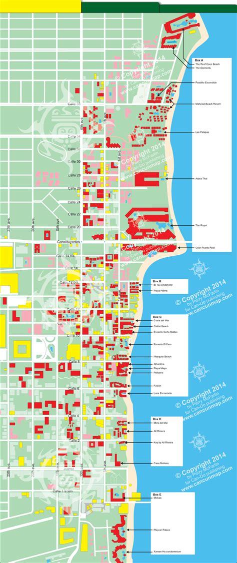 printable map playa del carmen popular 196 list map of playa del carmen