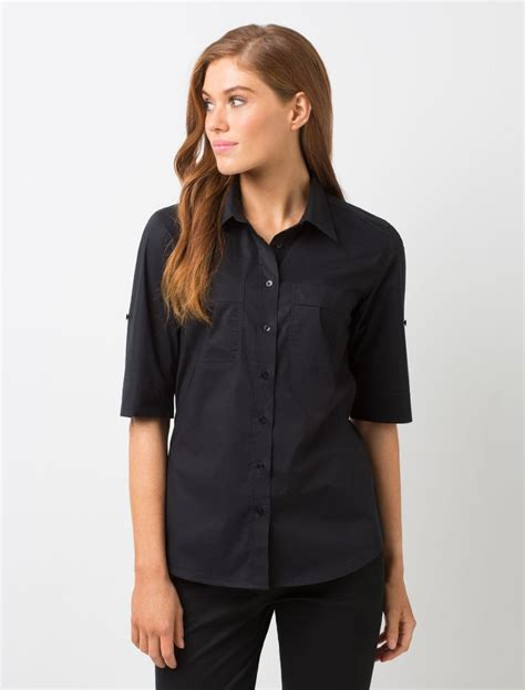 Black Blouse Sleeve Womens by Tops