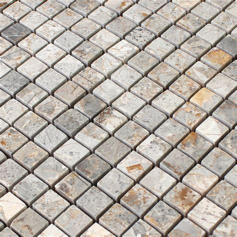 fliesen mosaik naturstein mosaik fliesen marron gold poliert ran48024