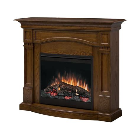 shop style selections 26 quot homestead oak electric fireplace