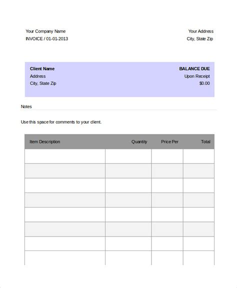 dj invoice template 8 free word pdf documents