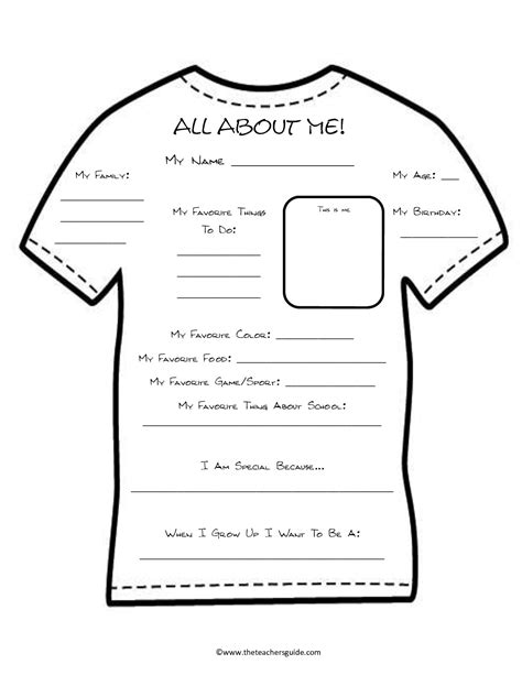 about me worksheet teach me pinterest worksheets