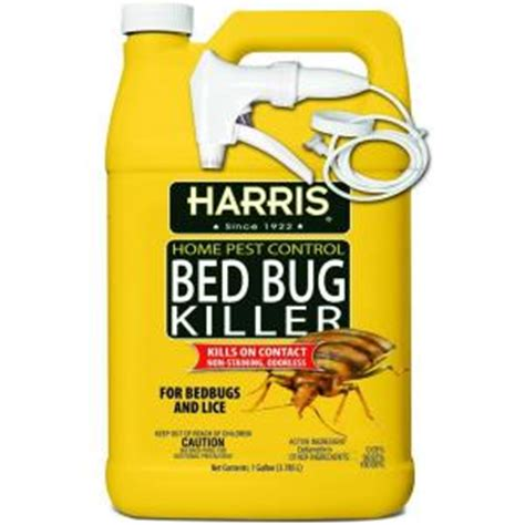 best bed bug spray home depot harris 1 gal bed bug killer hbb 128 the home depot