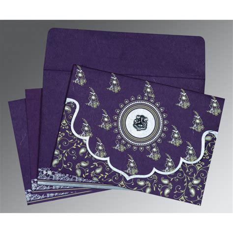 Screen Printing Wedding Invitations by Purple Handmade Silk Screen Printed Wedding Invitation W