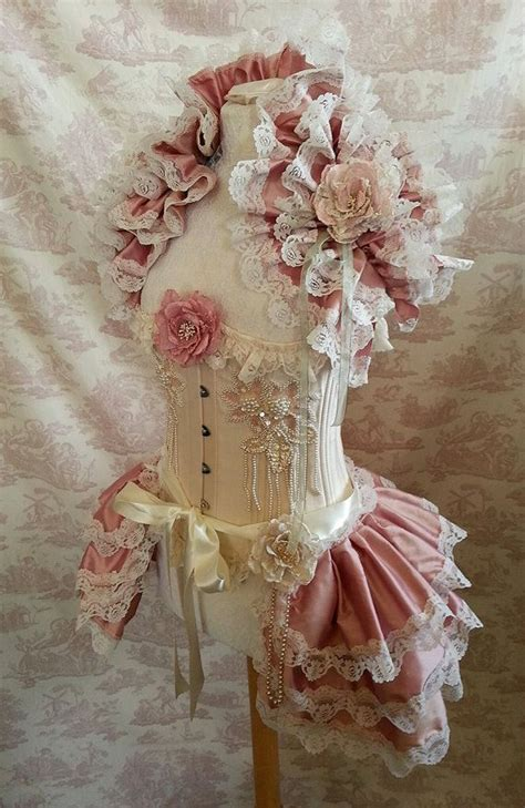 Pink Lace Fan Cover Shabby Vintage Home Decor Flower listing for corset skirt and shrug set silk ties bustle and