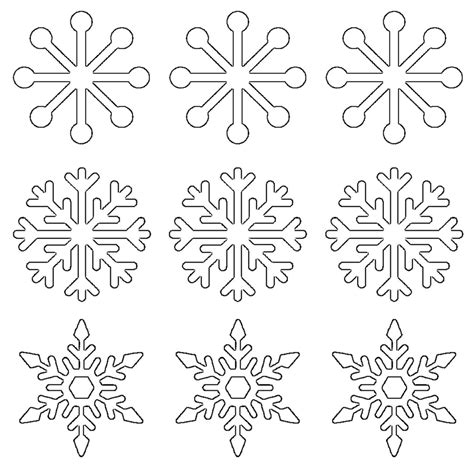 printable snowflake templates large small stencil