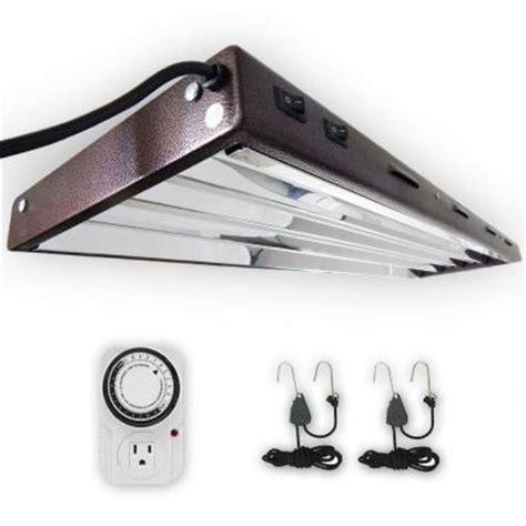T5 Light Fixtures Home Depot Viavolt 4 Ft 4 Bulb T5 High Output Copper Fluorescent Grow Light Fixture With Timer V44 Kit