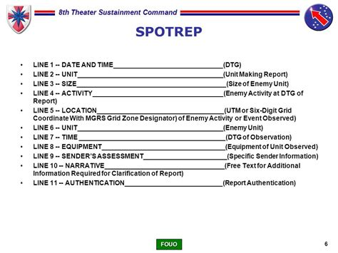 army situation report images