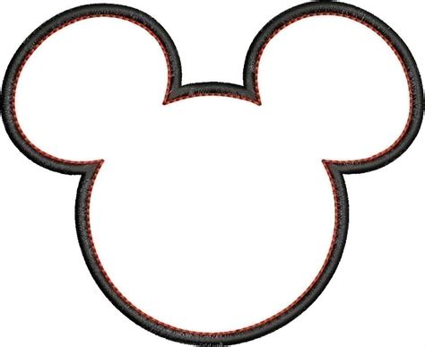 free coloring pages of mickey mouse head outline