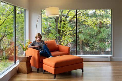 living room platform hornstein residence midcentury living room denver
