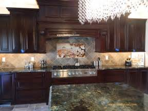 how to do kitchen backsplash the vineyard tile murals tuscan wine tiles kitchen backsplashes