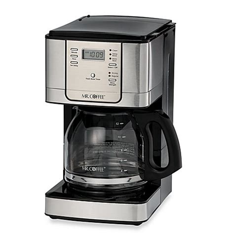 bed bath coffee maker mr coffee 174 jwx series 12 cup programmable stainless steel
