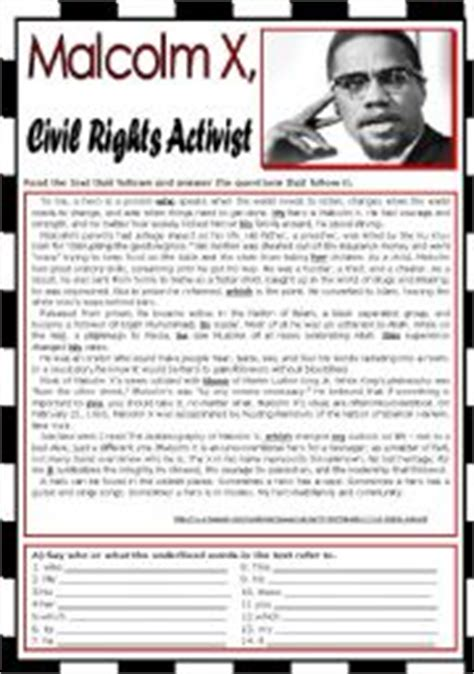 malcolm x biography in english collection of malcolm x worksheet adriaticatoursrl