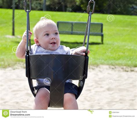 Baby In Swing Baby On Swing Stock Images Image 25067954