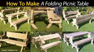 How To Make A Folding Picnic Table Bench by Build A Folding Picnic Table Quick Woodworking Ideas