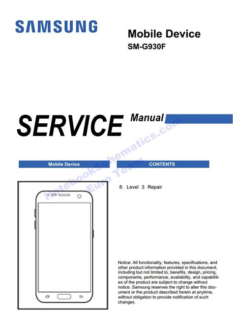 service manual samsung galaxy s7 repair manual sm g930f level 3 repair manual