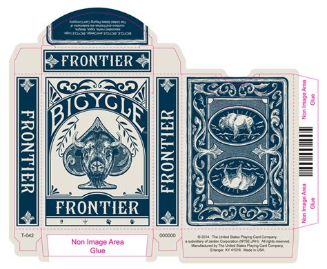 Bicycle Card Tuck Box Template by The Frontier Cards Two New Decks With An