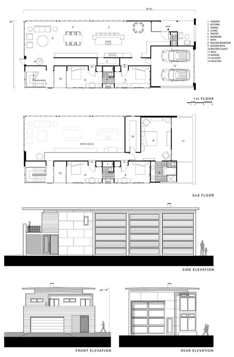 floor plan elevations 206 best houses images on architecture modern houses and facades