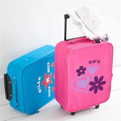 children s personalised suitcase by simply colors