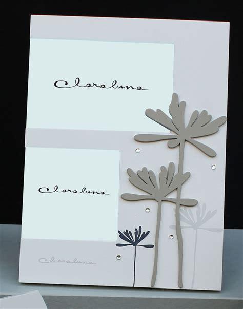cornici doppio vetro portafoto doppio in legno con fiori a rilievo di