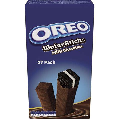 Oreo Wafer Sticks Milk Chocolate oreo milk chocolate wafer sticks 27pk 345g woolworths