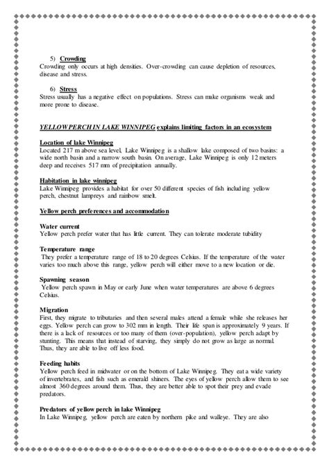 Limiting Factors Worksheet by From The Previous Article Yellow Perch In Lake Winnipeg