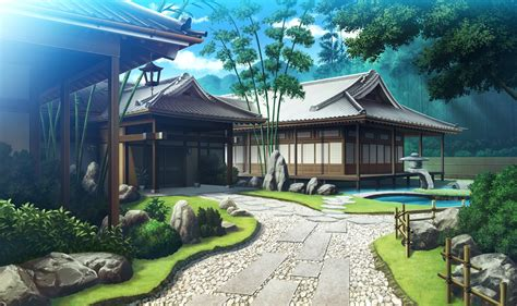 anime house beautiful landscapes 28 wallpaper and hintergrund