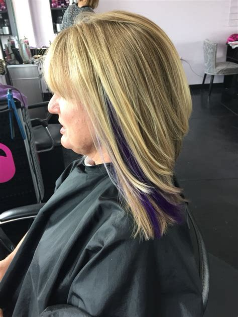 dirty blonde bob hairstyle with peek a boo highlights 1000 images about hair by karissa on pinterest