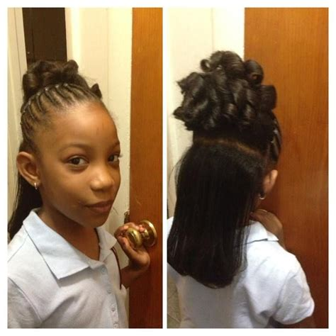 flat ironed hairstyles for kids flat twist to pony tail and candy curls with flat ironed