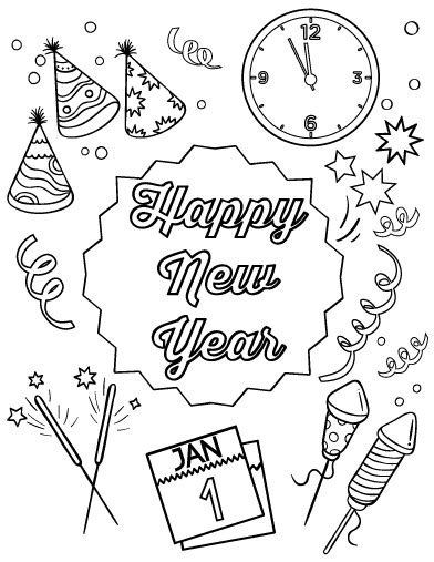 new years coloring printable new years coloring pages coloring me