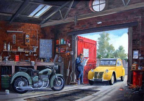 1960s Garage by 1960 S Garage Interior Portrait By Derek