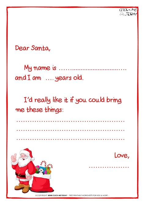 Letter To Santa Claus Template Sle Letter Template Letter Template Santa