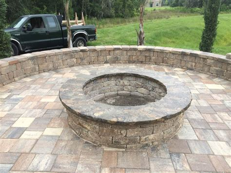 pit picnic table custom picnic table and pit elite pavers of ta bay