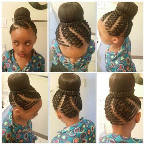 kids godess braids with bun kids hairstyle bun braids creative done by me tracy
