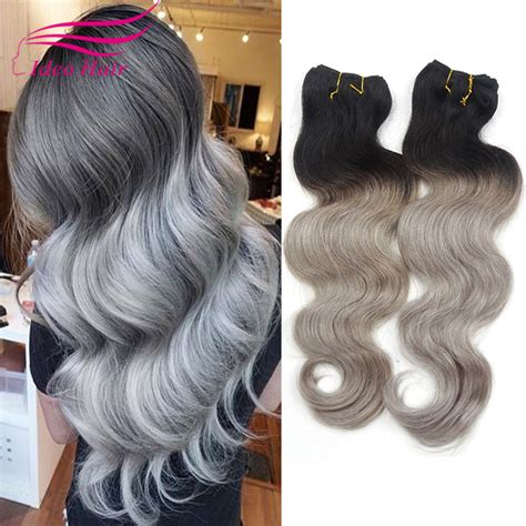 body wave on gray hair cheapest gray weave brazilian virgin hair body wave grey