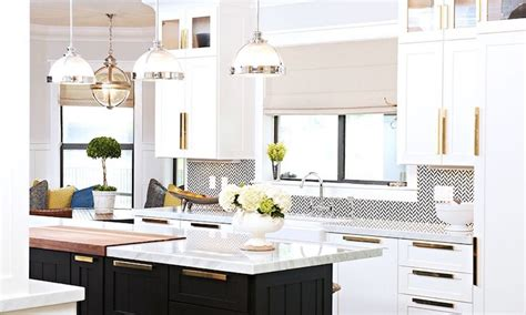 white kitchen cabinets with brass hardware and black shiny brass kitchen cabinet hardware design ideas