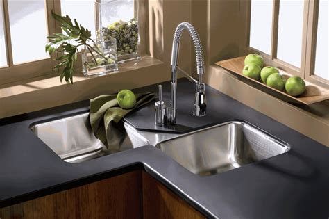 find the right corner kitchen sink material
