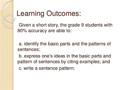 exle of basic sentences pattern sentence pattern