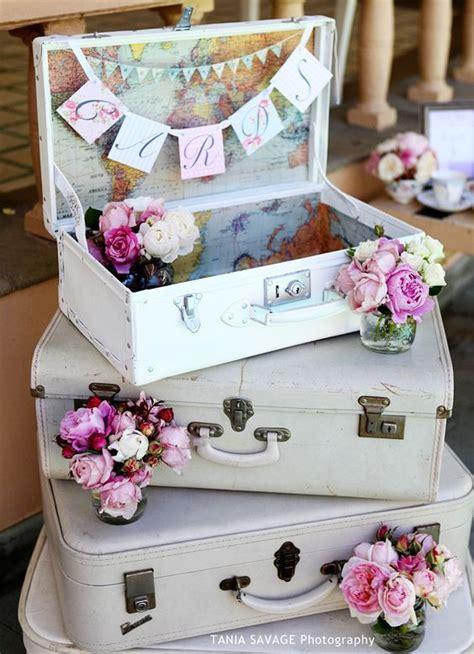 top  vintage suitcase wedding decor ideas roses