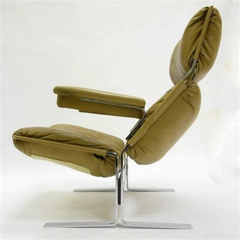 Comfortable Ottoman by Comfortable Steel And Leather Lounge Chair And Ottoman By