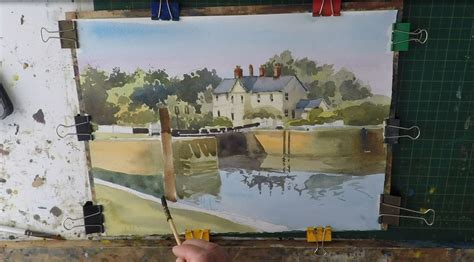 watercolor tutorial buildings how to paint buildings and trees in watercolour easy