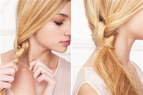 hairstyles w one hair tie 15 hair hacks that take less than 5 minutes brit co
